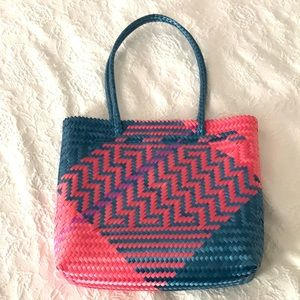Spring Woven Tote Bag